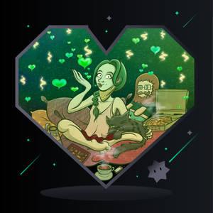 Juniper sends you Love (Valentine's Day Card 2021)