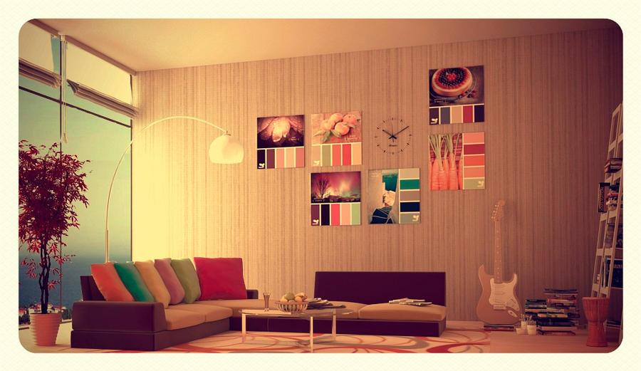 Interior Living Room by Oleksandra91 on DeviantArt