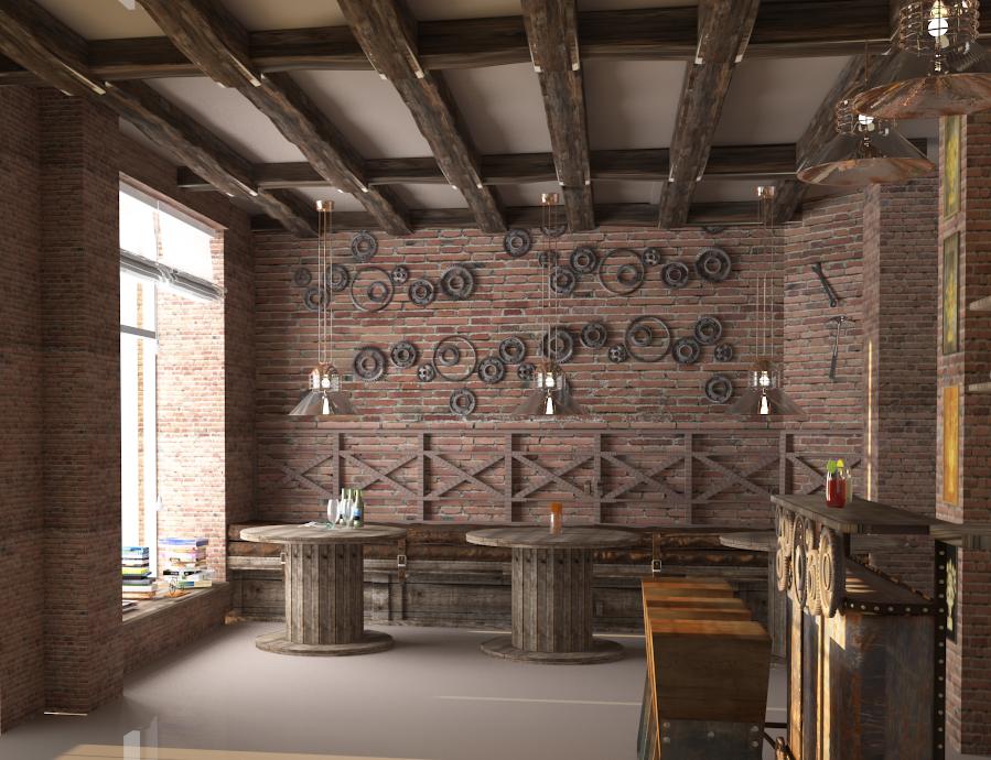 Cafe Industrial Style By Oleksandra91 On DeviantArt