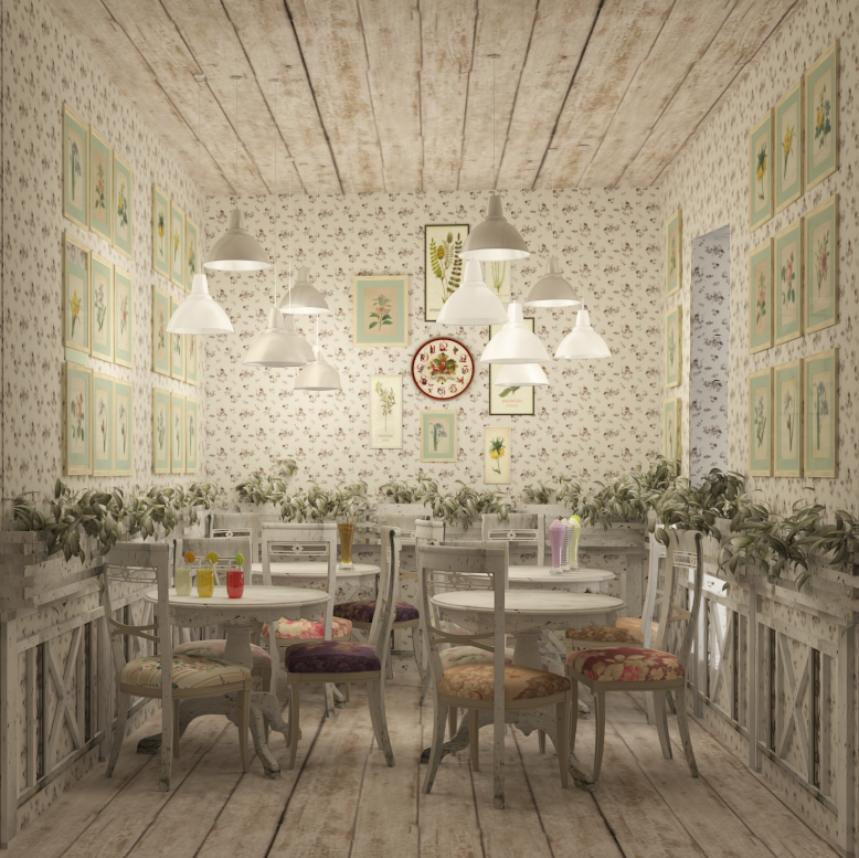 Shabby Chic Interior Design: Cafe. Shabby-chic Design By Oleksandra91 On DeviantArt