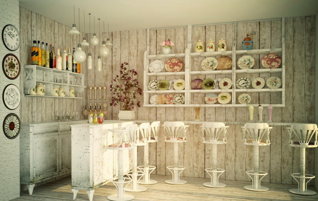 Cafe Shabby Chic Design By Oleksandra91 On DeviantART