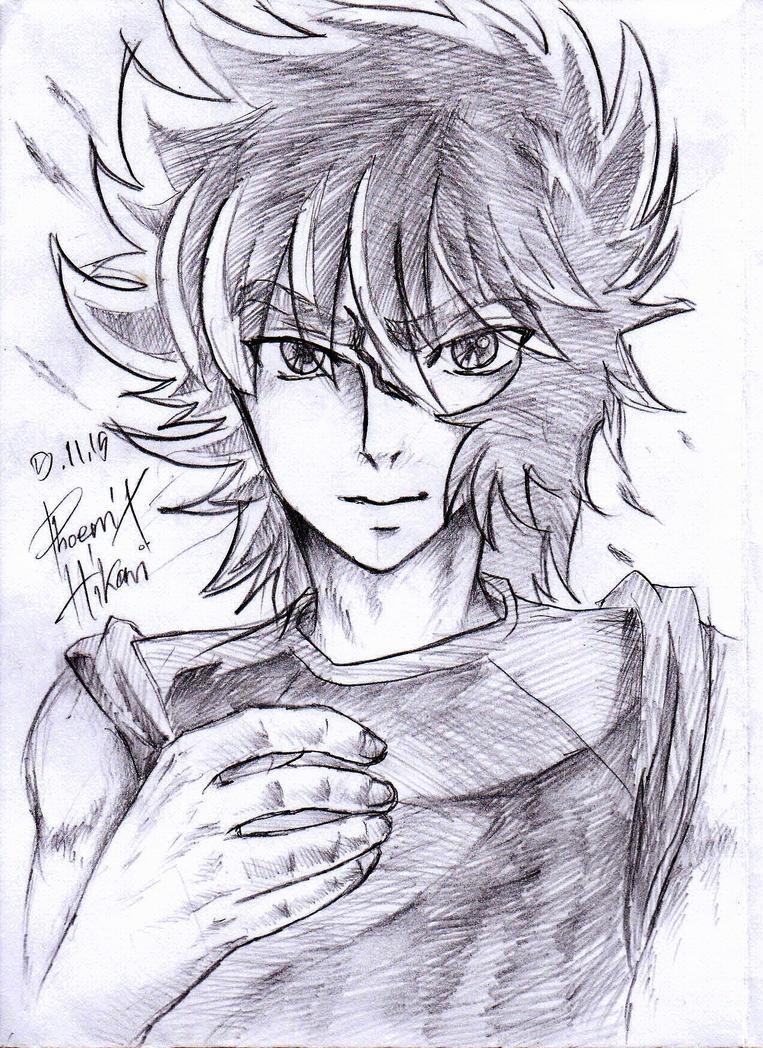 Drawing Ikki by HikariAndDarkNEKO