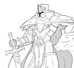 Black Knight WIP by Lupucs
