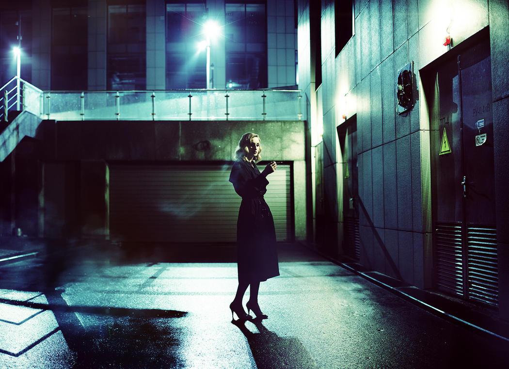 Night, Street, Lantern, Sasha... by psychiatrique
