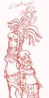 Las chicas de Chantico. by ah-puch-zegno
