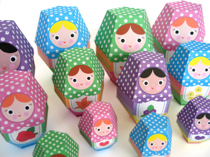 Paper Nesting Dolls by FantasticToys
