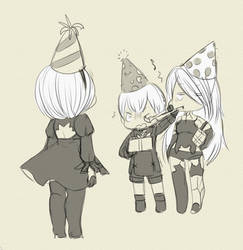 Happy ''birth''day, 2B! by NotReallyDaily
