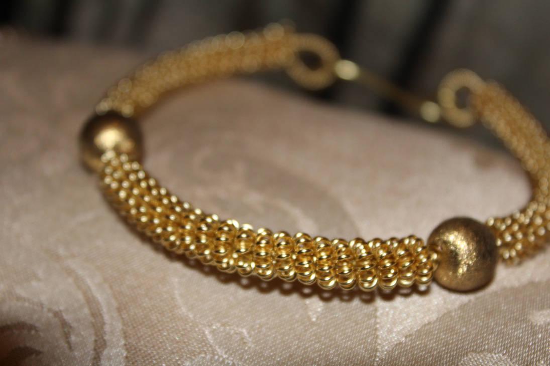 Gold Bangle by RiverGold