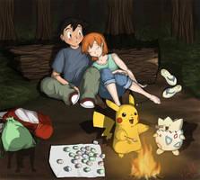 Ash and Misty by PrinzeBurnzo