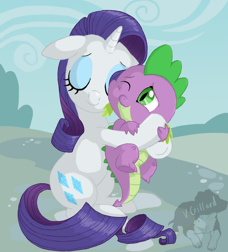 The soft hug by PrinzeBurnzo