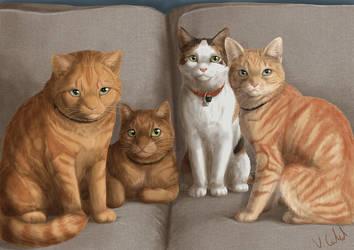 Kitties by PrinzeBurnzo