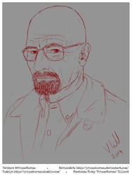 Walter White sketch by PrinzeBurnzo
