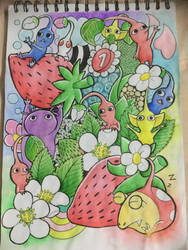 Pikmin Doodle - Strawberry by IcedTea128