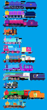 Me,Shona and other Mlp characters as TaF Engines