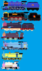 Me,Sinfonia,and other Mlp ponies as TaF Engines