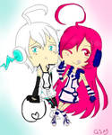 VOCALOID CHIBI: MIKI AND PIKO by GhostStoryMaster