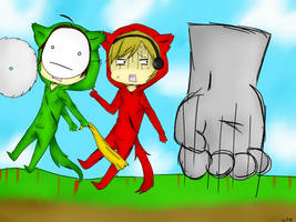 Pewdiepie and Cry : Bloody Trapland by GhostStoryMaster