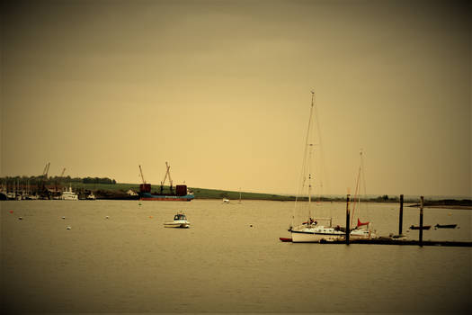 Sail Boats On The River
