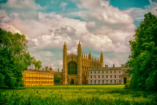 Summer Time At Kings College,Cambridge