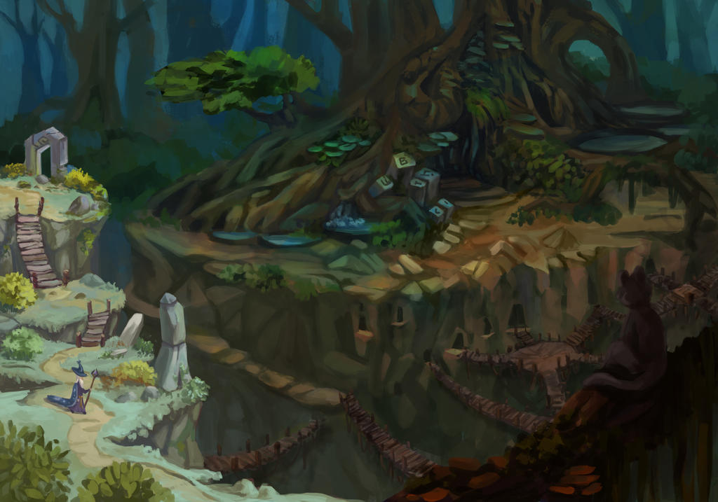 Journey Tree Cave by Katrintinny