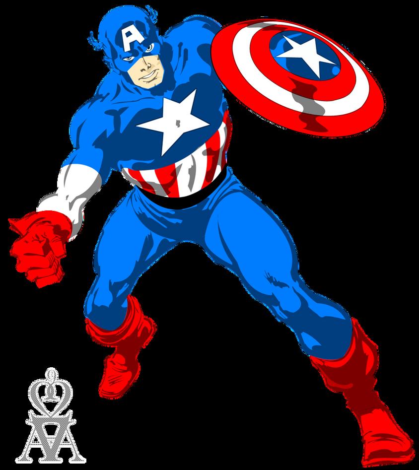 : :Captain America - Vector: : by a2a2a9 on DeviantArt Captain America Logo Clip Art