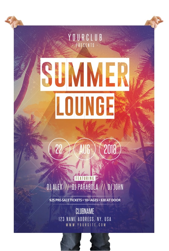 Summer Lounge Download Free Psd Flyer Template By Pixelsdesign Net