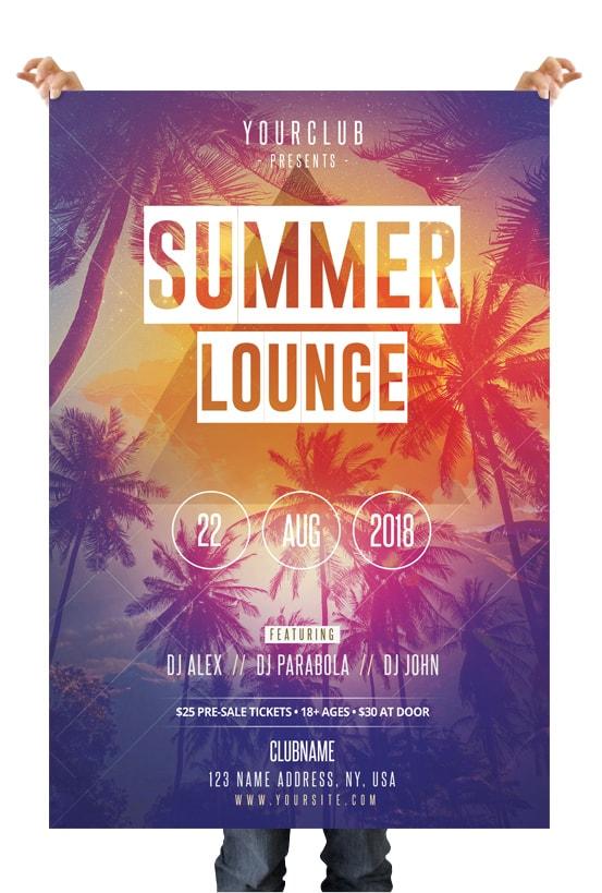 Summer Lounge Download Free Psd Flyer Template By Pixelsdesign Net