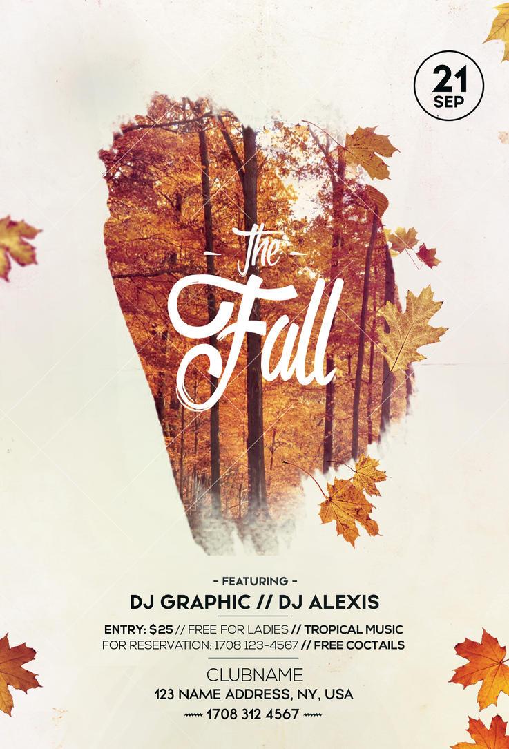 Fall Festival Autumn Free Psd Flyer Template By Pixelsdesign Net