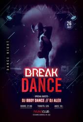Break Dance Free PSD Flyer Template by pixelsdesign-net