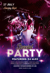 Special Party PSD Free Flyer Template by pixelsdesign-net
