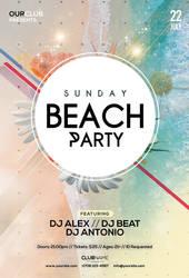 Sunday Beach Free Summer PSD Flyer Template by pixelsdesign-net