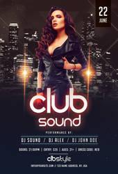 Club Sound Night PSD Free Flyer Template by pixelsdesign-net