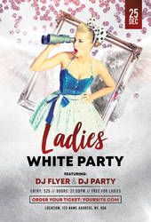 White Ladies Party Free PSD Flyer Template by pixelsdesign-net