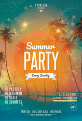 Beach Party Free PSD Flyer Template by pixelsdesign-net