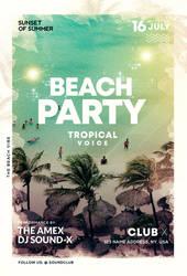Beach Vibe - Summer Free PSD Flyer Template by pixelsdesign-net