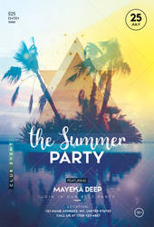 The Summer Party PSD Free Flyer Template by pixelsdesign-net