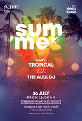 Summer Tropical Free PSD Flyer Template by pixelsdesign-net