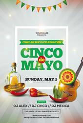 Cinco de Mayo Free PSD Flyer Template by pixelsdesign-net