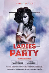 Ladies Vibe Party Free PSD Flyer Template by pixelsdesign-net