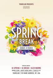 Spring Break PSD Free Flyer Template by pixelsdesign-net