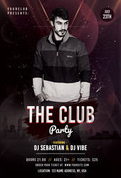 the Club Party PSD Free Flyer Template by pixelsdesign-net