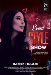 Style Show Free PSD Flyer Template by pixelsdesign-net
