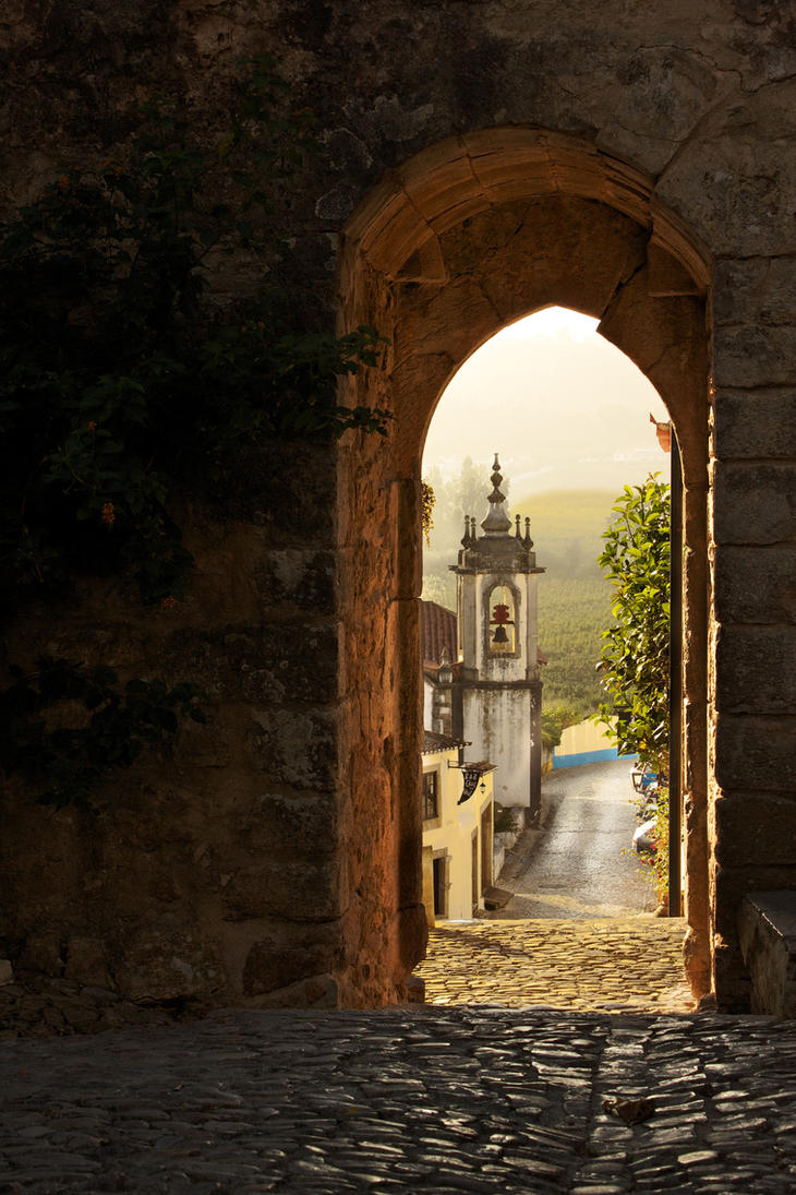 Obidos, Portugal, Arch by knapb