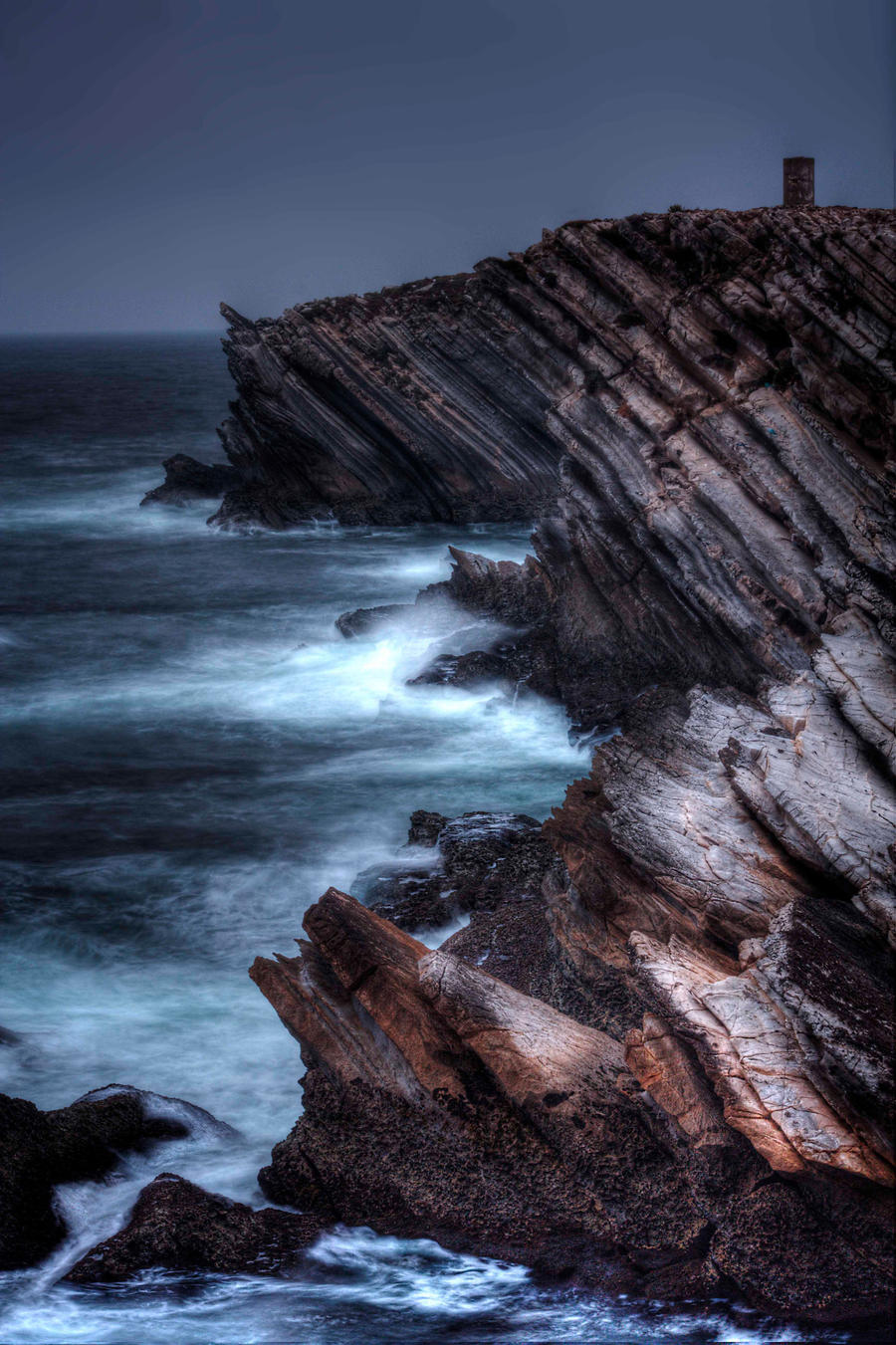 Atlantic cliff, Peniche, Portugal.