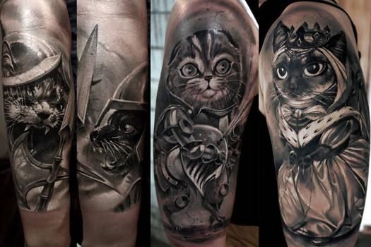 Girl likes kittens