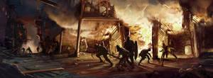 BurningVillage2 by JasonNewhouse