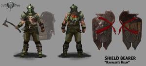 Shield bearer RavagersHelm by JasonNewhouse