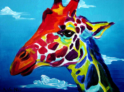 Giraffe by dawgart