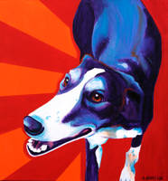 Greyhound - Evie by dawgart