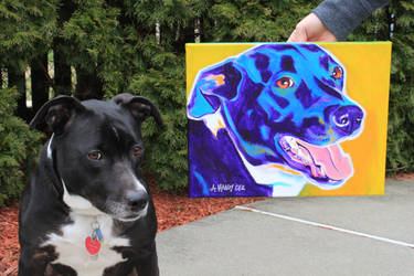 Luna and portrait by dawgart